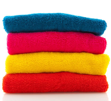 Pile of Coloured Towels